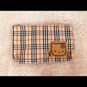 Hello Kitty Burberry-like Makeup bag